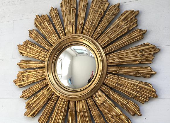 SOLD Vintage Belgian giltwood sunburst mirror