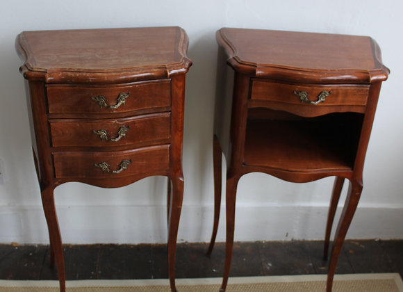 Pair of His & Hers bedside cabinets from France
