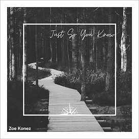 Just So You Know (piano version)  - cover image - Zoe Konez