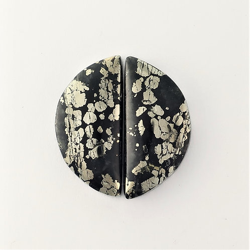 PYA: 23 (SBBT) Pyrite in Agate, 1 pair