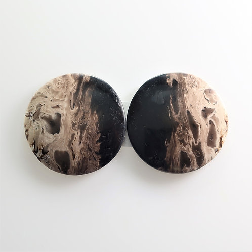 FPM:RD659-2, 1 Pair (SBBT) (Fossil Palm Wood)