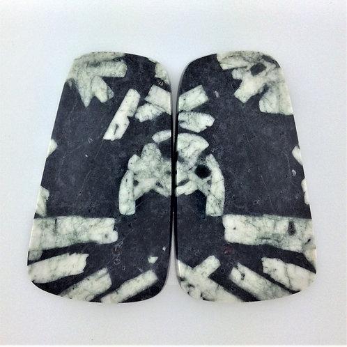 CWS:KS564 (SBBT) 1 Pair (Chinese Writing Stone)