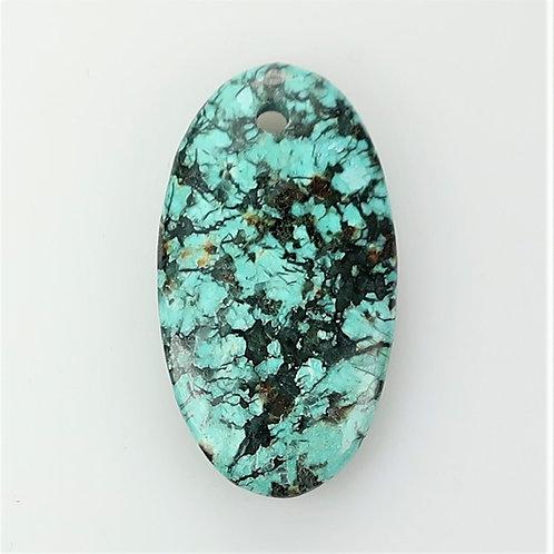 AFTU:R32 (2mm Hole Drilled Thru) (African Turquoise)
