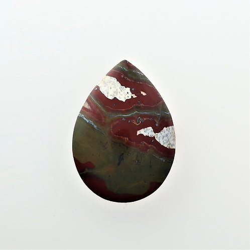 RGB: 39 (SBBT) Red Green Blanket Jasper, 1 pc