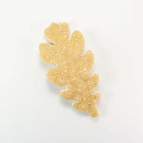DRU:GG012 Carved Drusy Leaf