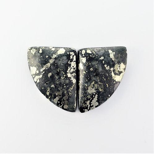 PYA:15 (SBBT) Pyrite in Agate 1 pair