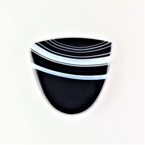 SOX:TG677-2 (SBBT) (Black & White Striped Onyx)