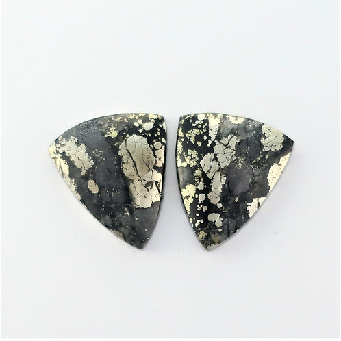 PYA:10 (SBBT) Pyrite in Agate 1 pair