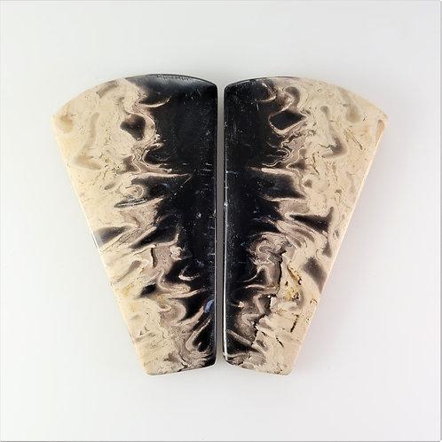 FPM: KS662,1 Pair (SBBT) (Fossil Palm Wood)