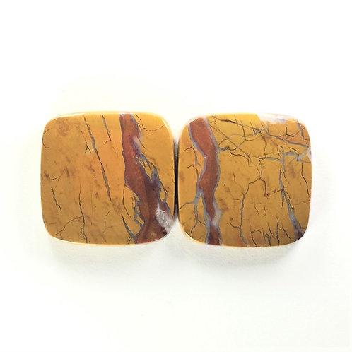 SCJ:SQ518 (SBBT) 1 Pair(Stone Canyon Jasper)