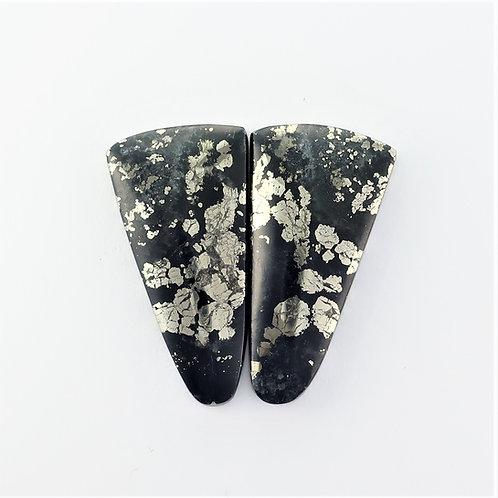PYA: 9 (SBBT) Pyrite in Agate 1 pair