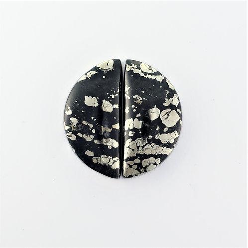 PYA:11 (SBBT) Pyrite in Agate 1 pair