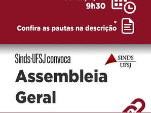 SINDS CONVOCA ASSEMBLEIA GERAL PARA SEXTA (4)