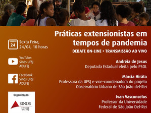 Debate online: Práticas extensionistas em tempos de pandemia