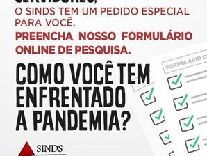 SINDS PROMOVE PESQUISA SOBRE CONDIÇÕES DE TRABALHO DOS TÉCNICOS DA UFSJ NA PANDEMIA