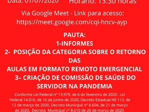 CONVOCAÇÃO ASSEMBLEIA GERAL 01/07/2020