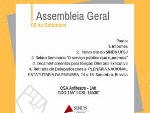 Assembleia Geral na próxima quinta-feira