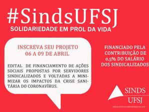 ABERTO EDITAL PARA FINANCIAMENTO DE AÇÕES SOLIDÁRIAS