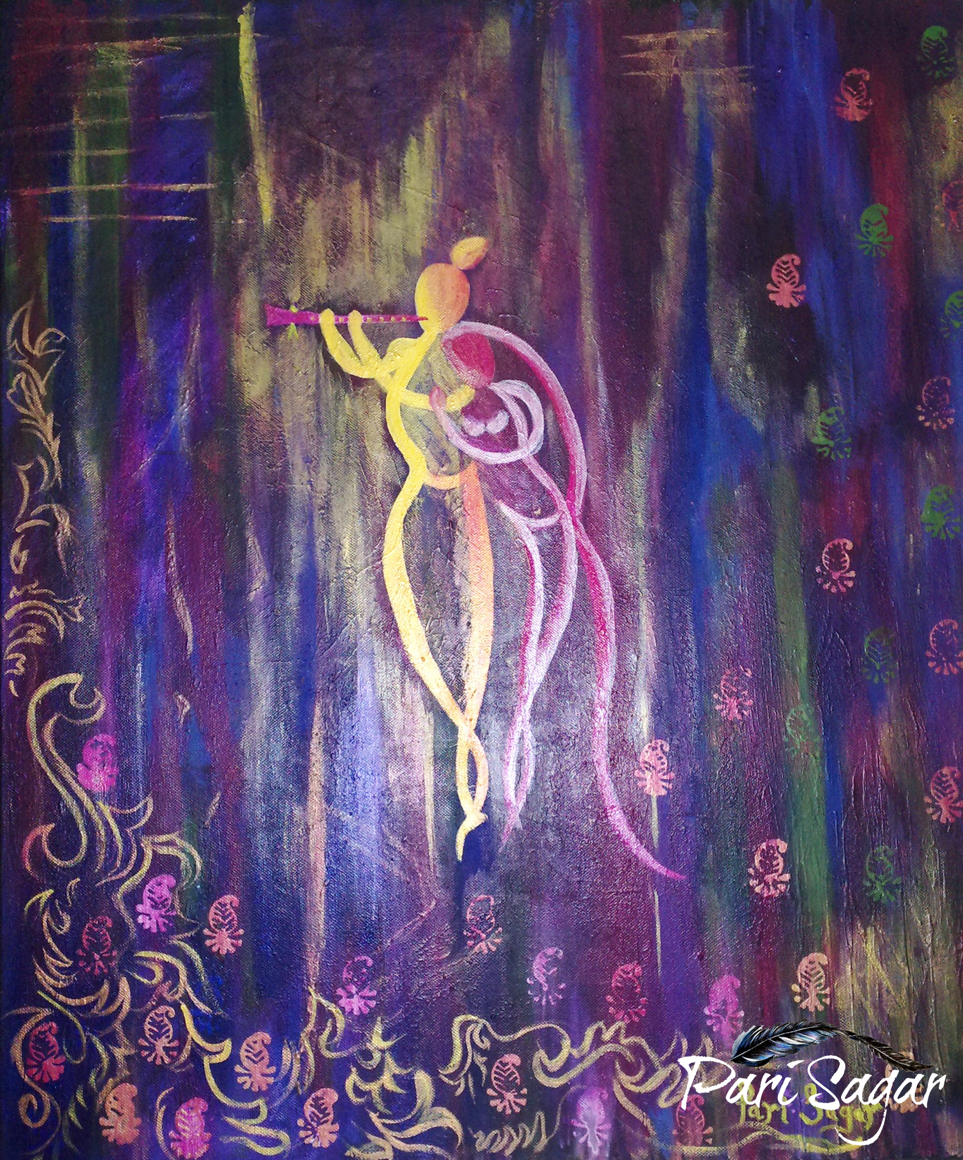 Abstract Radha Krishna (Sold)