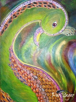 Abstract peacock  (sold)