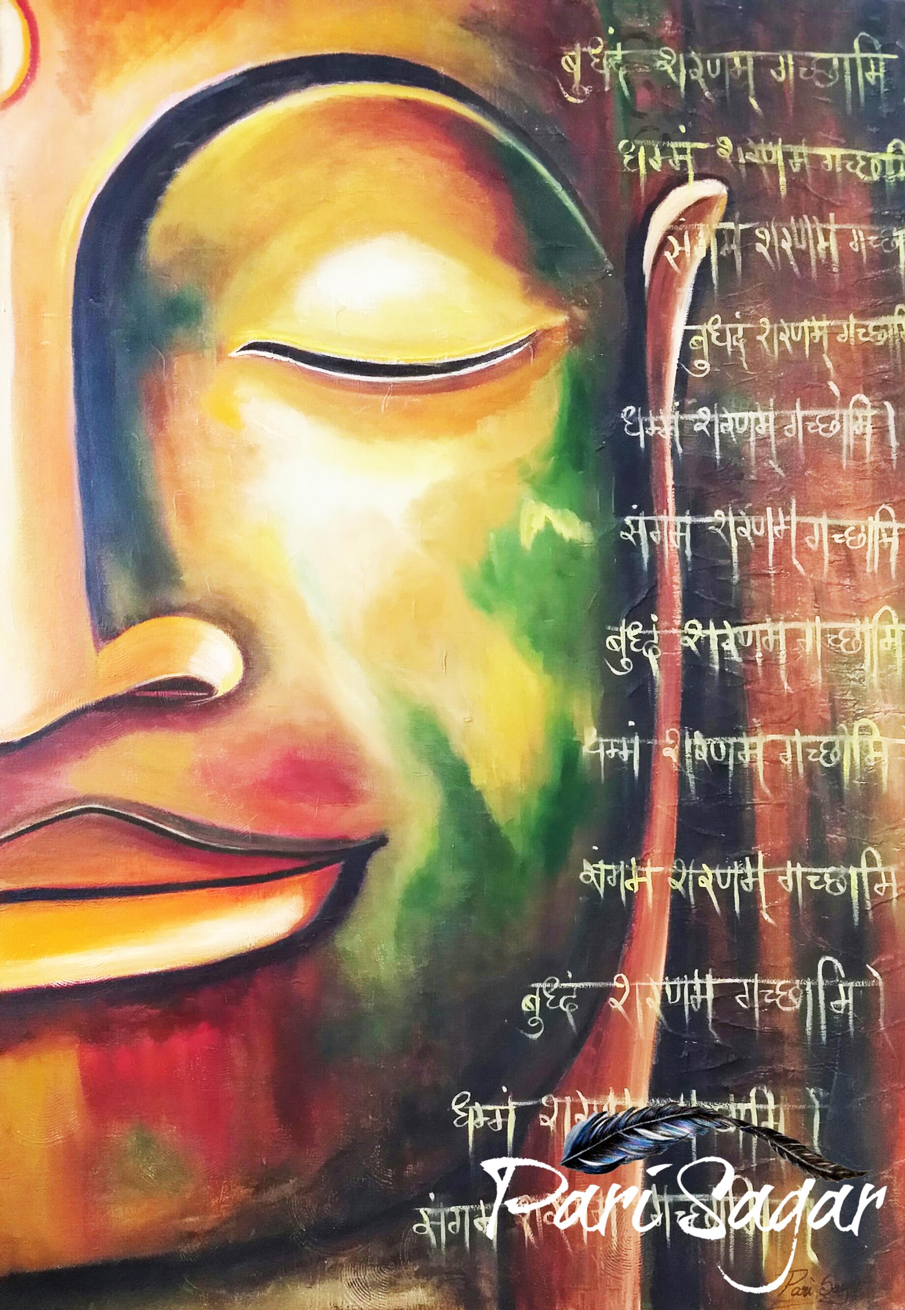 callighaphy Buddha