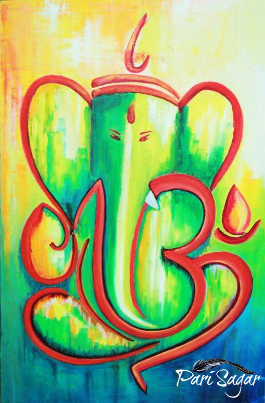 Calligraphy Om Ganesha