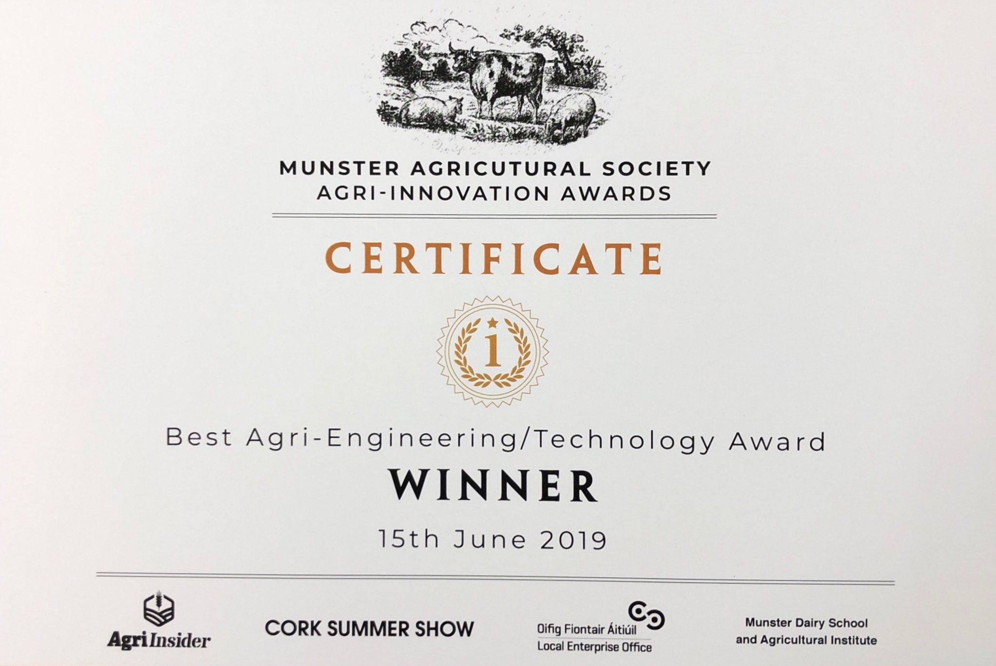 2019 Agri-Innovation Award