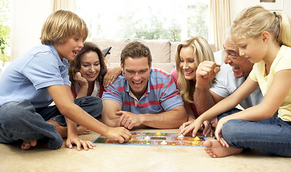 Happy Family Playing a Game Together