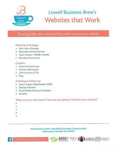 Photo of September Business Brew Handout - Websites That Work