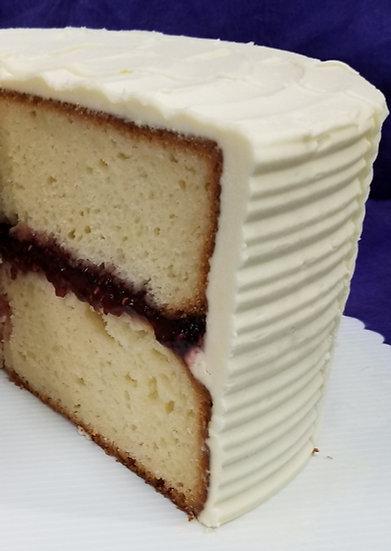 Vanilla Razz Cake Slice