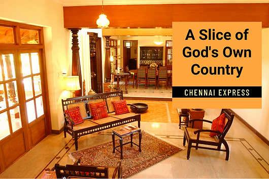 Article in Chennai Express about Aruna and Vijaykumar's home on the ECR in Chennai with strong Kerala influences.