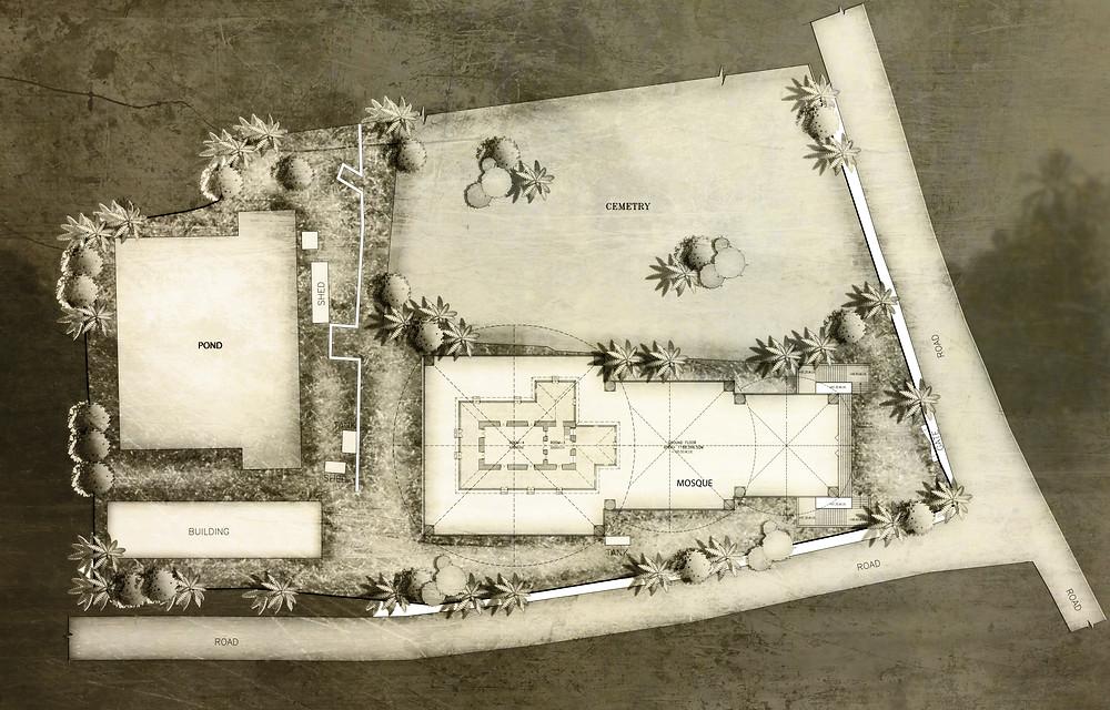 Cheraman Masjid Ground Floor Plan