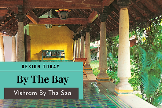 Design Today articles talks about, open courtyards, Athangudi tiles and a sloping tiled roof forming the major traditional features with a Mediterranean touch in this 'restful' haven on the outskirts of Chennai.