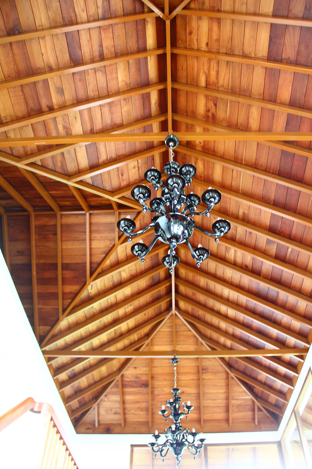 Timber ceiling of the Wayanad House.