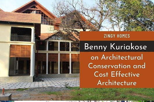 Andrew Chyne interviews Benny Kuriakose for Zingy Homes, on his practice and visions in Architecture. Benny Kuriakose is a name synonymous with Architectural Conservation and Cost-effective Architecture. Deriving his early experience working with the legend and his mentor Laurie Baker, Kuriakose has several prestigious restoration projects to his name. He is also well known for his tsunami reconstruction projects and post-earthquake rehabilitation work in Latur and Bhuj. Not to be typecast into any particular slot, the versatile architect has also done some up-market, high-end resorts at one end and care-units at the other.