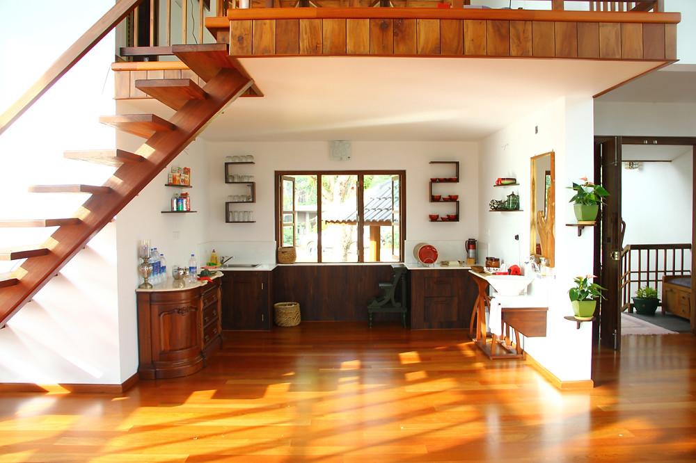 Open kitchen in Wayanad House