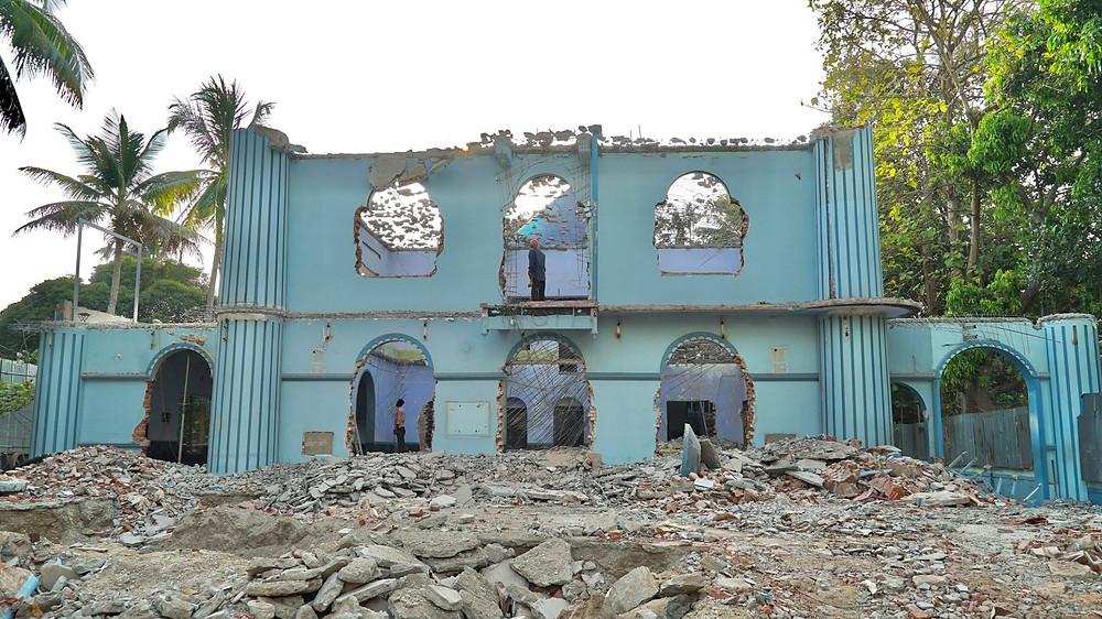 Cheraman Masjid Restoration Under Progress