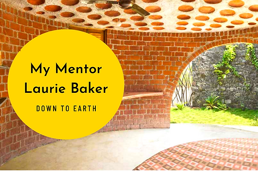 """Benny Kuriakose reminisces about his guru, the iconic Laurie Baker. """"Benny Kuriakose began his architecture career in 1984. He was one of the privileged few who worked under the tutelage of Laurie Baker which involved both learning and unlearning. In an e-mail conversation with Disha Singh for Down To Earth magazine, Kuriakose, Chennai-based specialist in low-cost housing, describes the pioneer architect's methods."""""""