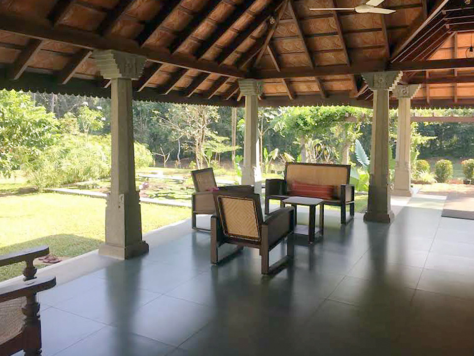 Traditional Veranda Sit out extended to a Garden