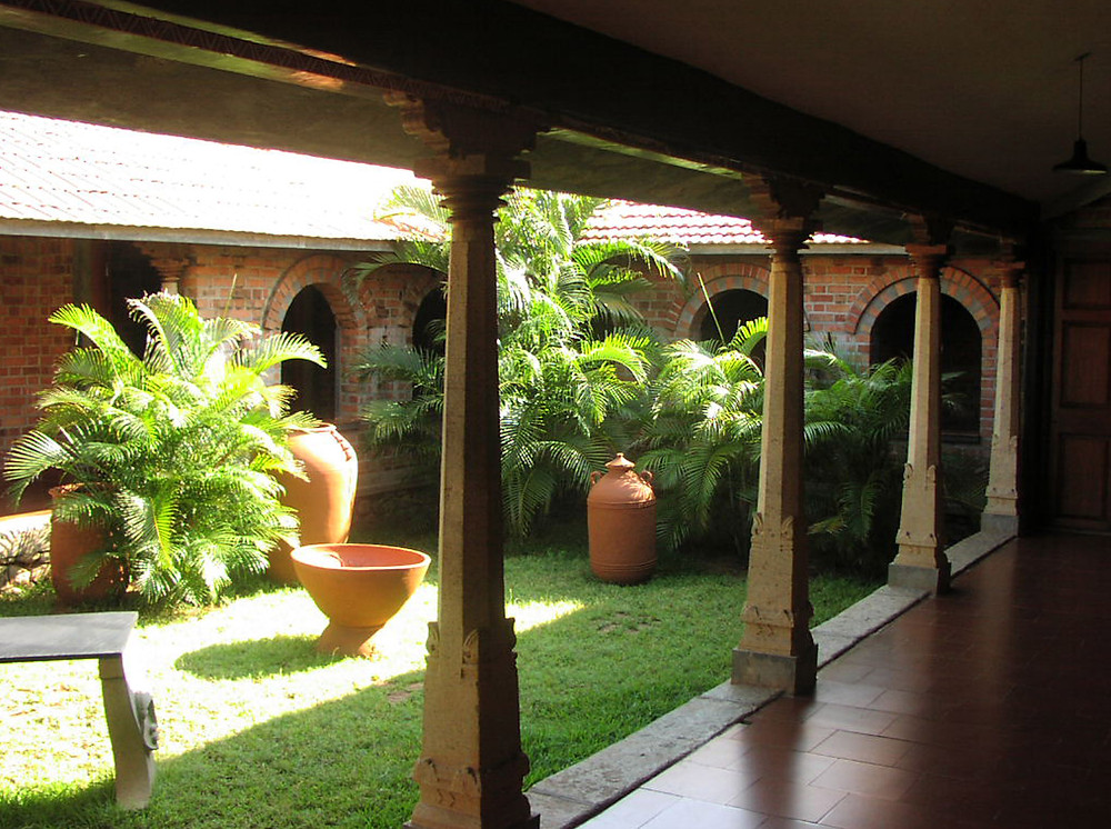 Internal Courtyard of the Entrance Building in Dakshinachitra.