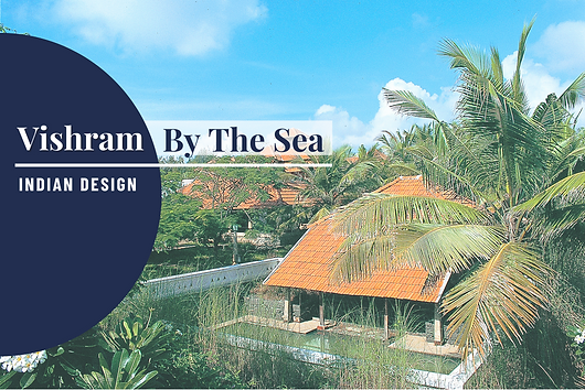 A series of photographs showcase the architecture of the seaside home, Vishram by the Sea: Excerpt from the book, Indian Design published by Daab