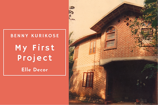 In this article in Elle Decor, Benny Kuriakose opens up on his first project, which was built in Kottayam for Prof. P C John and Prof. Susan in 1985-86.