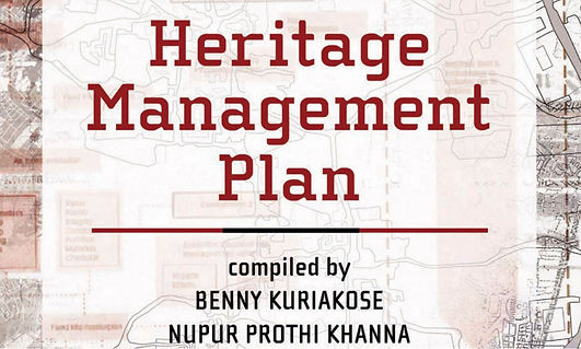 ​This book is compiled By: BENNY KURIAKOSE, Nupur Prothi Khanna & Malvika Bajaj Saini. It is intended to provide guidelines for the preparation of the Heritage Management Plans.