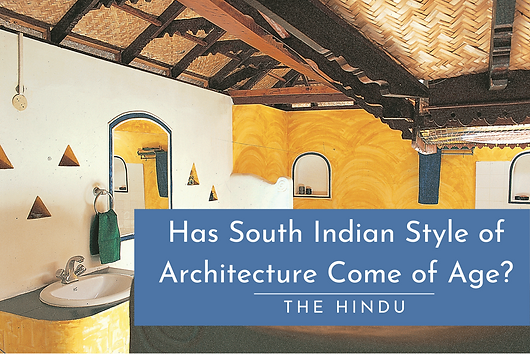 """In this article published in The Hindu, the emergence of the 'South Indian style of Architecture' is substantiated through this beach home by the seaside. """"The Inside Outside magazine's Designer of the Year Award has been won by Chennai-based designer Benny Kuriakose. One of the designers who collaborated with him in the award-winning project was Visalakshi Ramaswamy, also from Chennai. Kuriakose received the award from Ashok Advani, Publisher, and Sheila Shahani, Editor of Inside Outside, the Indian Design Magazine, at Mumbai, for a weekend retreat that he had designed and built near Muttukadu, on the road to Mahabalipuram. During a felicitation function that was attended by some of the leading architects, designers, artists, and writers and activists in the field of conservation and heritage of Mumbai, Ashok Advani emphasised the importance of good design."""""""