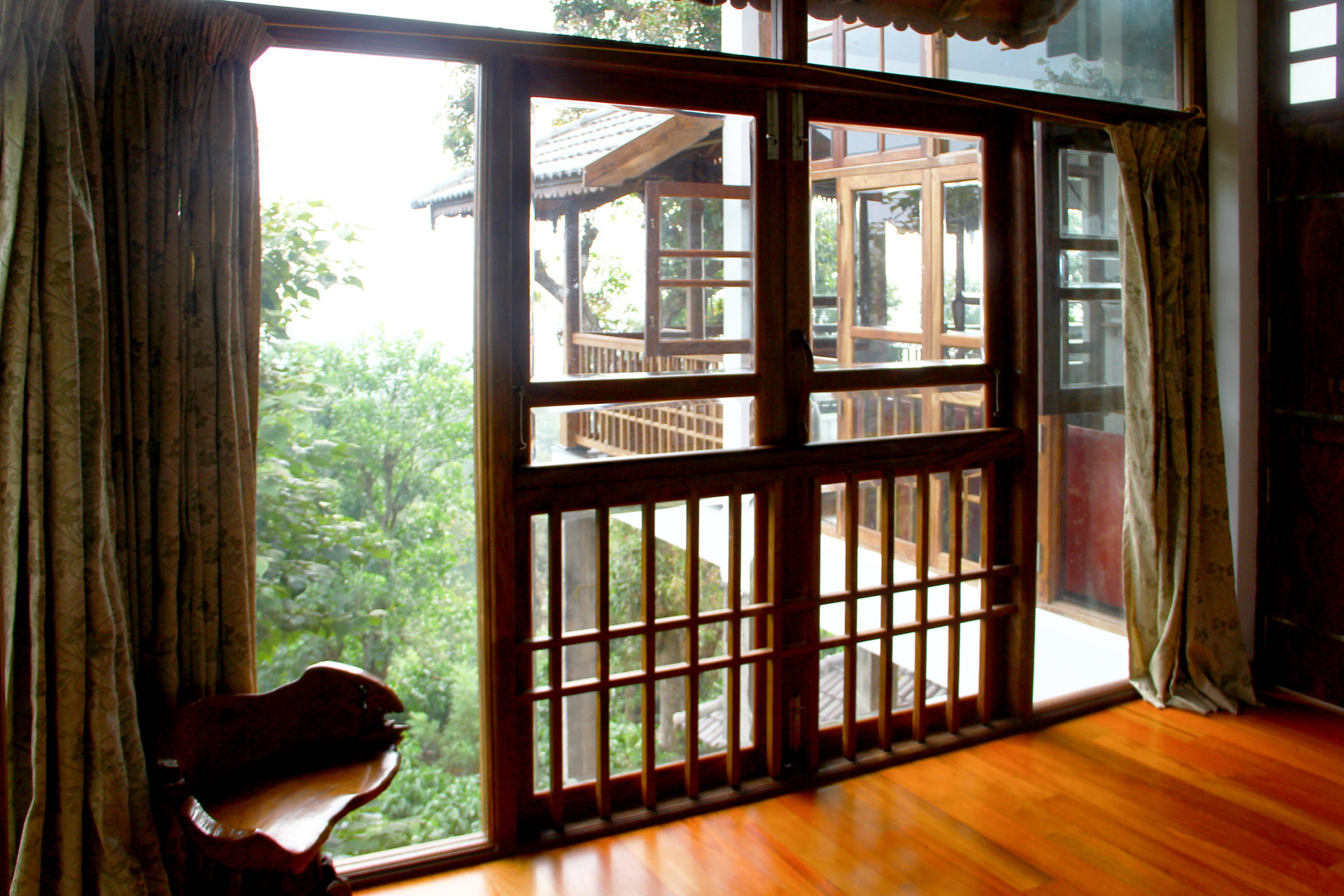 Glass and Timber Window