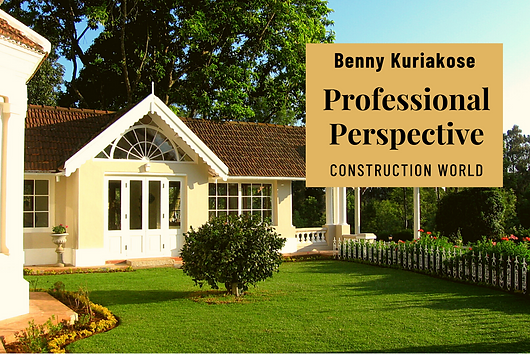 In a chat with Construction World, Benny Kuriakose talks about his vision of architecture.