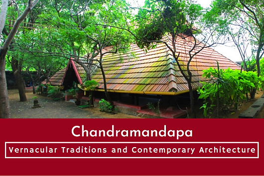 """From The Book """"Vernacular Traditions And Contemporary Architecture"""" Edited By Aishwarya Tipnis Published By: The Energy And Resources Institute, New Delhi: Chandramandapa, the Kalari (traditional martial arts in Kerala) performance area and Chandramandala, the theatre has been designed by Benny Kuriakose into a versatile space as a memorial to the legendary dancer Chandralekha."""