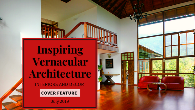 Interiors & Decor June July 2019 Anniversary Special featuring Benny Kuriakose's interview on Inspiring Vernacular Architecture. He is in the list of 50 Phenomenal Architects and Interior Designers