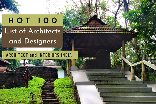 """Hot 100 - The sixth anniversary special issue of Architect and Interiors India begins with, """"the celebrated architects who have mentored talent over the years and have had a very strong influence on shaping the creative minds of today. And then we have the hottest 100 architects and designers of the country, who were asked to tell us why theirs is the best profession to be in, list their favourite architects and materials. Benny Kuriakose is featured as one among them."""