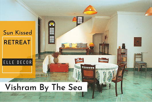 A Chennai beach house in an amalgamation of Chettinad and Kerala architecture with Mediterranean overtones.